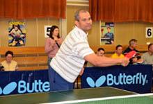 Turniej tenisa stołowego w Klubie Sportowym Spójnia