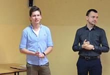 Spotkanie z p. Danielem Kościńskim i p. Jakubem Nowakiem